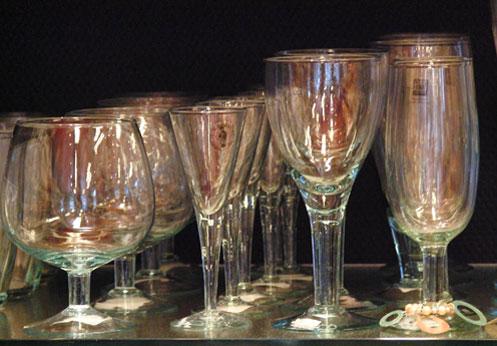 Prachtig glasservies uit de Wereldwinkel